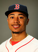 Mookie Betts of the Boston Red Sox poses for a portrait on February 28 2016 at JetBlue Park in Fort Myers Florida