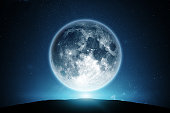 Moon and night sky.