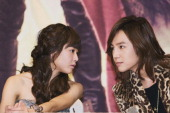 Moon GeunYoung and Jang KeunSuk attend the KBS 2TV 'Merry Nun Oe Park Jung' Press Conference at Imperial Palace Hotel on November 3 2010 in Seoul...