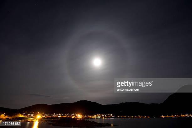 Moon Auréole sur Tromsø