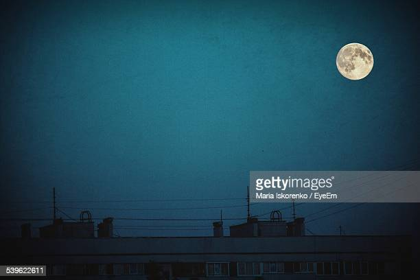 Moon In Blue Sky At Night
