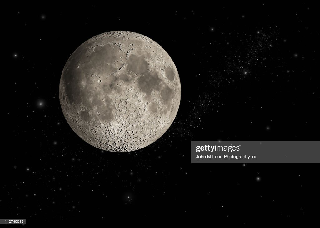 Moon in space : Stock Photo