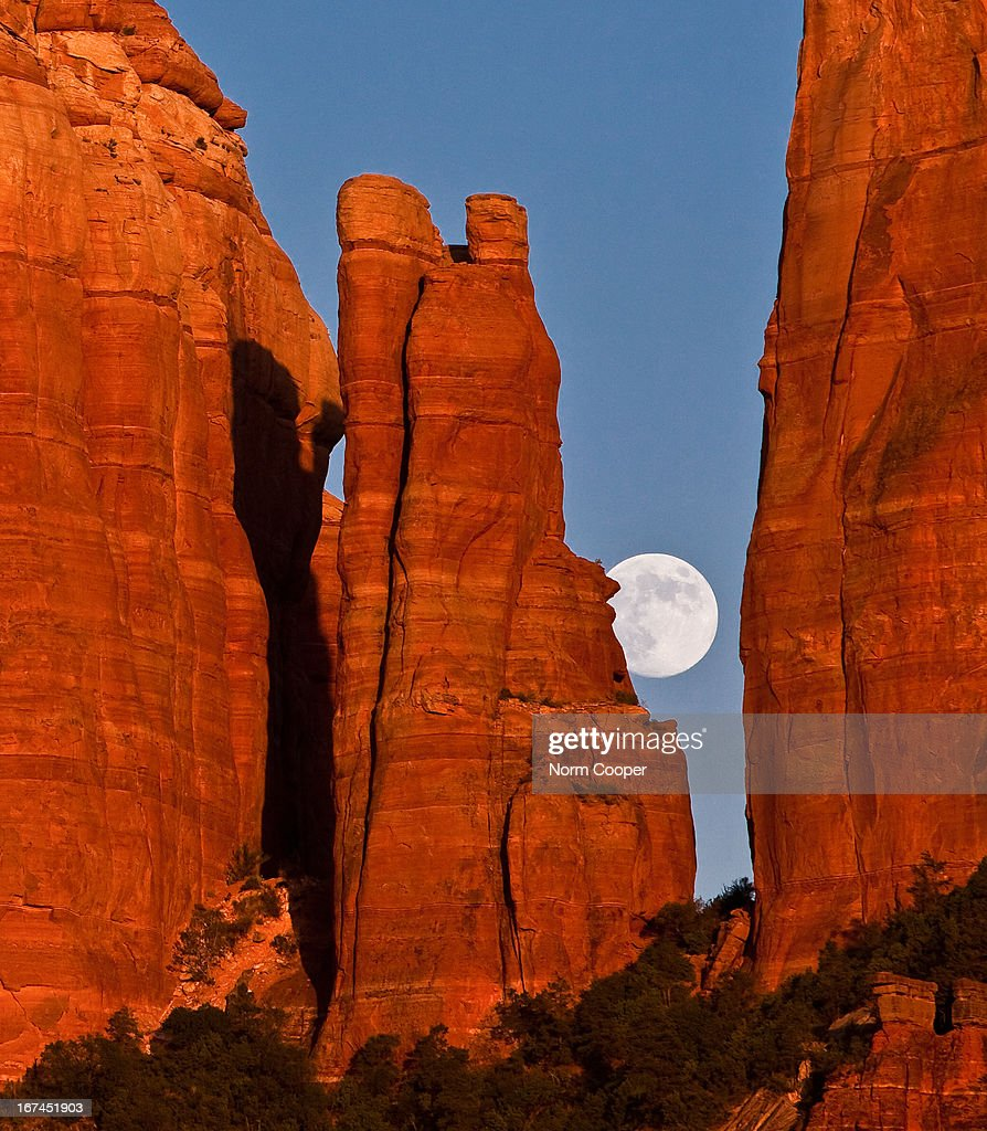 Moon in the Cathedral : Stock Photo