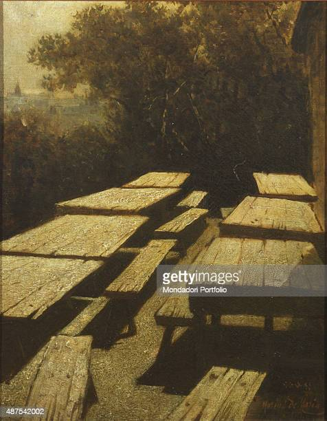 Moon on the Tables of a Tavern by Mario de Maria 19th Century oil on canvas 40 x 31 cm Italy Lazio Rome National Gallery of Modern and Contemporary...