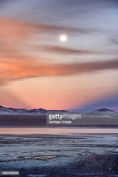 Moon over Laguna Colorada