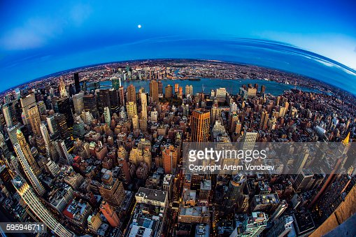 Moon over Planet New York