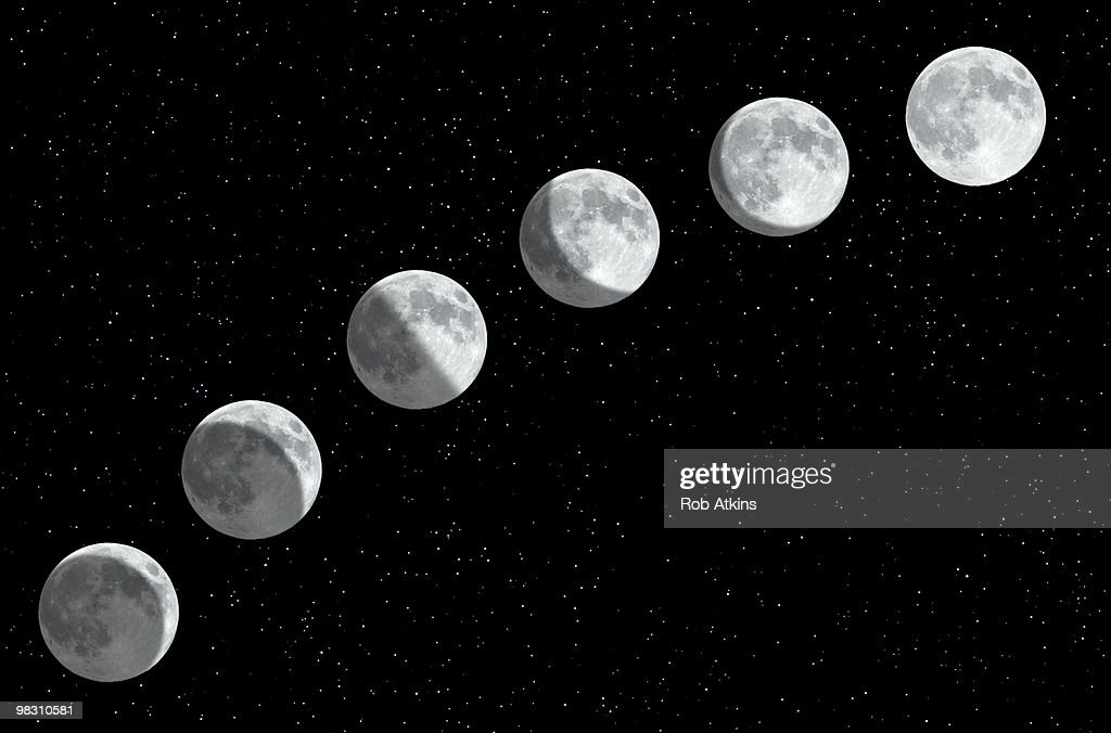 Moon phases : Stock Photo