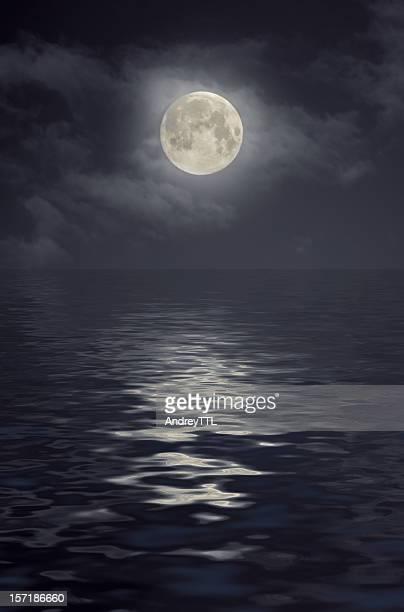 Moon under ocean