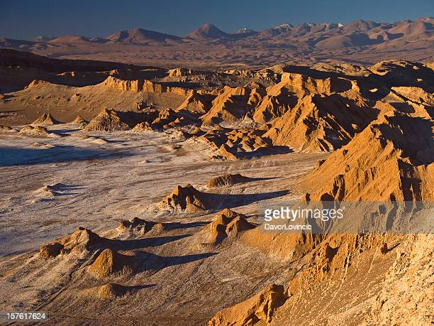 A moon valley of cliff and desert