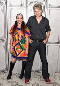 Moon Zappa and Thorsten Schutte attend AOL Build to discuss the film 'Eat That Question Frank Zappa In His Own Words' at AOL Studios on June 22 2016...