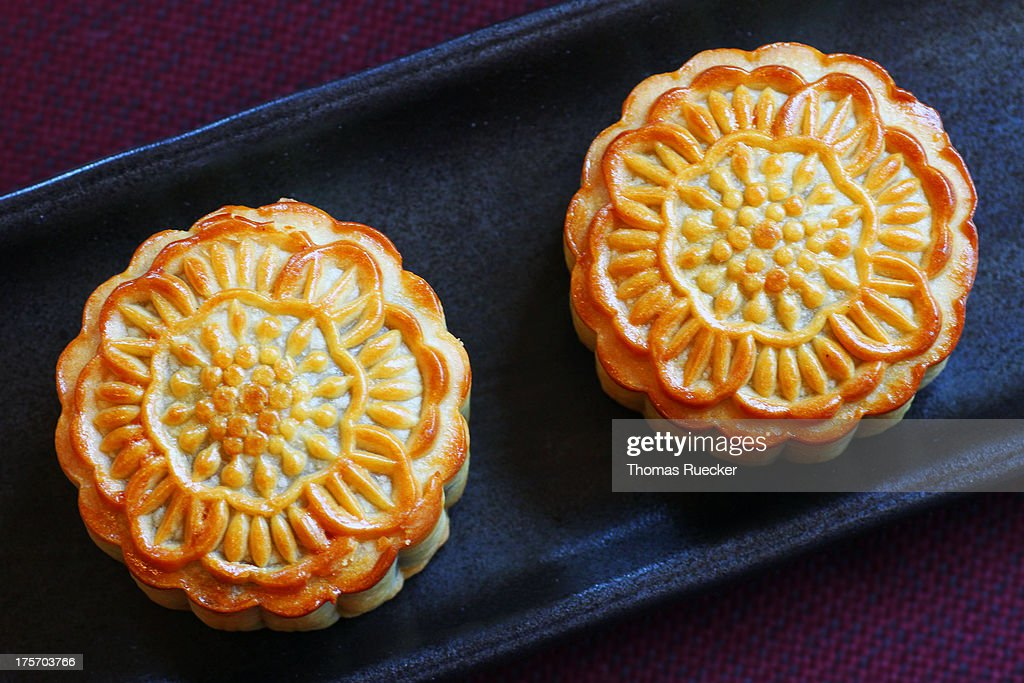 Mooncakes, Chinese Food for Mid-Autumn Festival : Stock Photo
