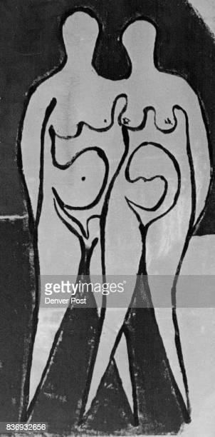 NOV 20 1974 NOV 24 1974 'Moonlight' a monoprint in color by sculptor Edgar Britton is at Littledale Credit Denver Post