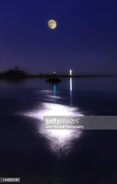 Moonlight by sea