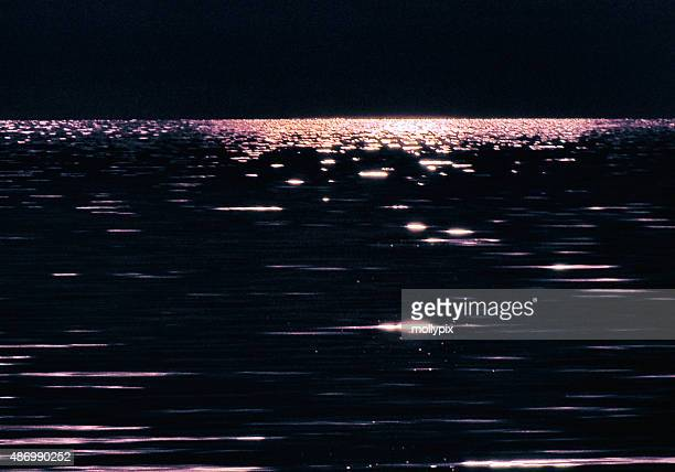 Moonlight Water Refections Highlights Night