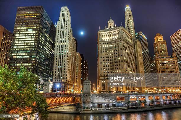 Moonlit Chicago