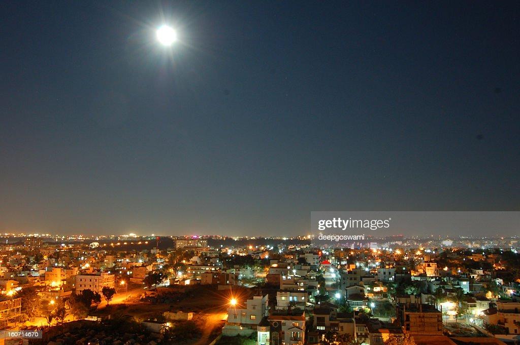 Moonrise over Bangalore