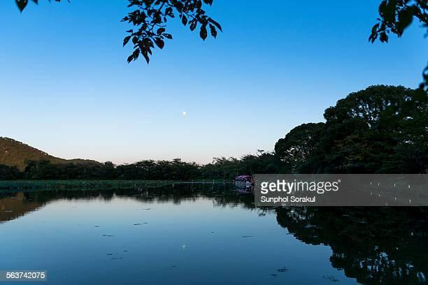 Moonrise reflection at Osawa Pond