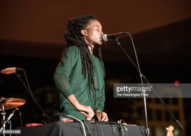 Moor Mother performs at the Concert For Yoko Ono at the Hirshhorn
