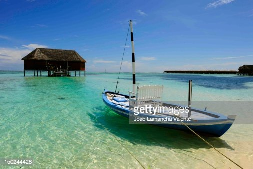 Moored boat : Stock Photo