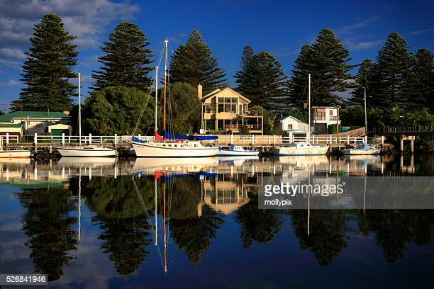 Moored Boats at Port Fairy, Victoria, Australia