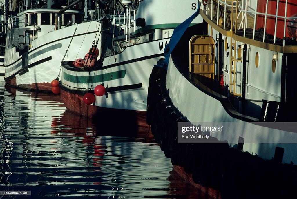 Moored fishing boats seattle washington usa stock photo for Fishing boats seattle