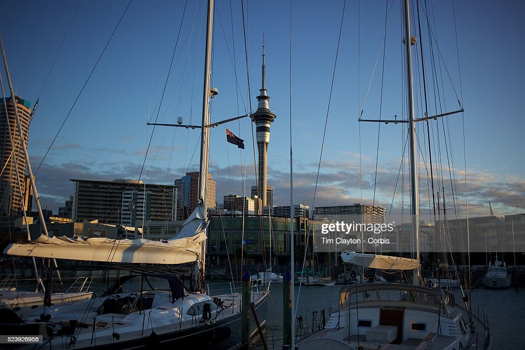 Moored yachts in Viaduct Basin Auckland New Zealand Located in the heart of Auckland City Viaduct Basin and Harbour is a first class residential...