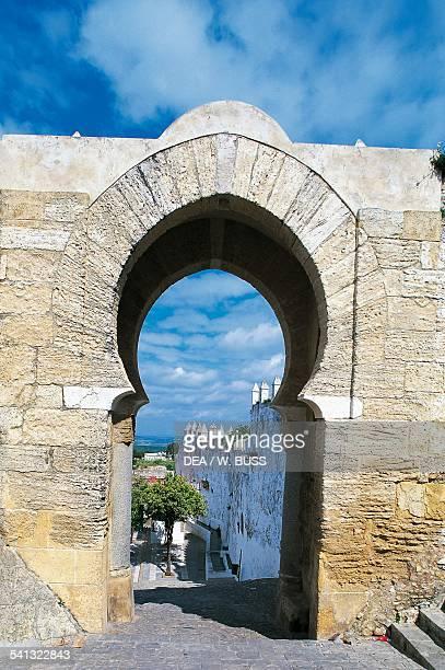 Moorish arch Vejer de la Frontera Pueblos Blancos Andalusia Spain