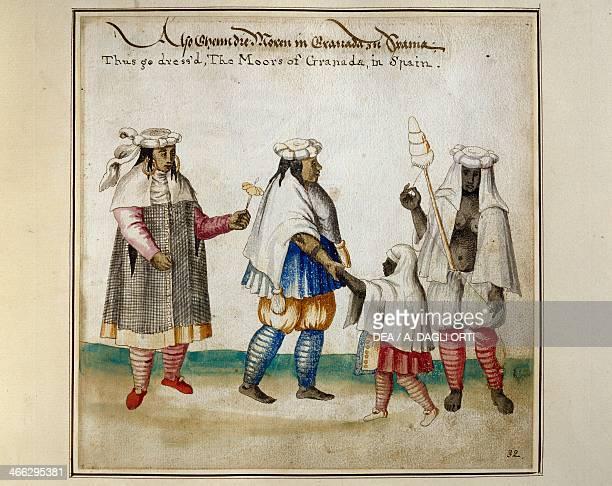 Moorish inhabitant from Granada Spain watercolour print Newport 1712