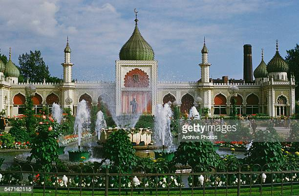 A Moorish palace in the Tivoli Gardens Copenhagen Denmark circa 1965