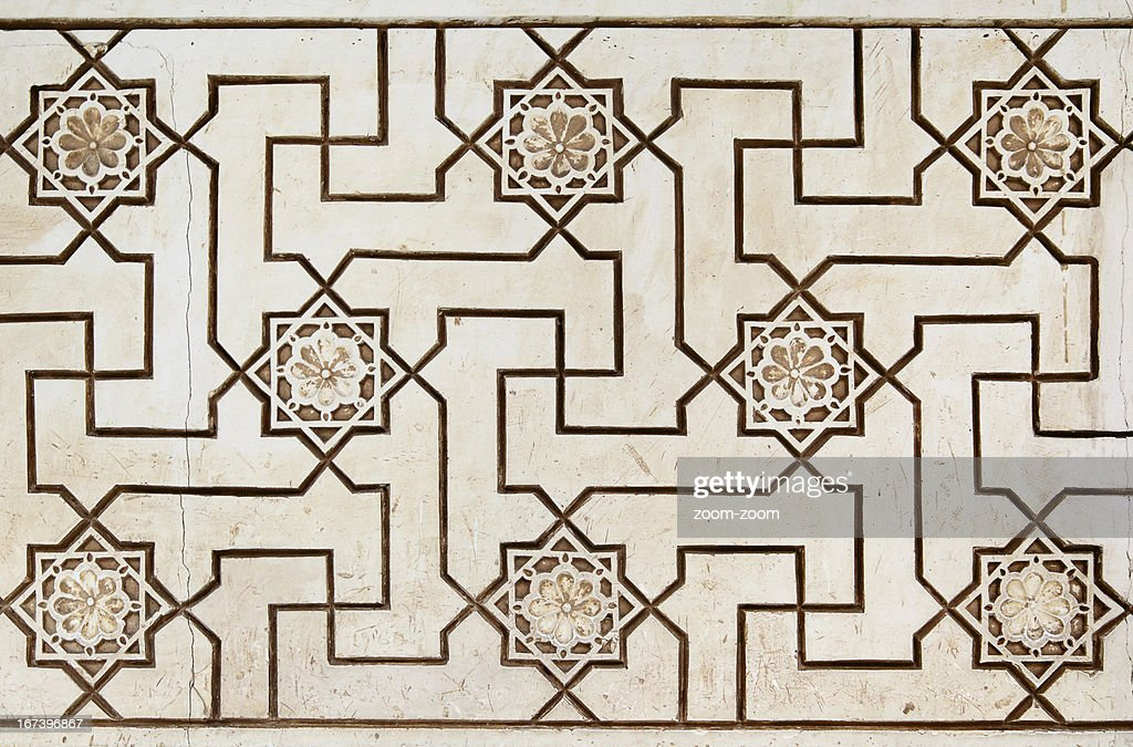 Moorish stone carving : Stock Photo