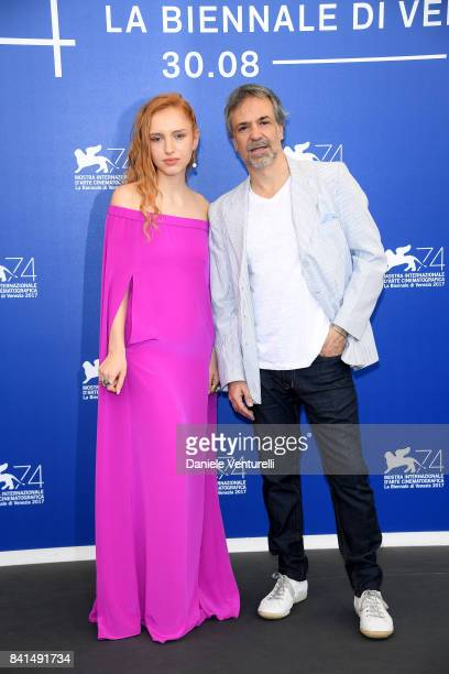 Mora Arenillas and Pablo Giorgelli attend the 'Invisible' photocall during the 74th Venice Film Festival on September 1 2017 in Venice Italy