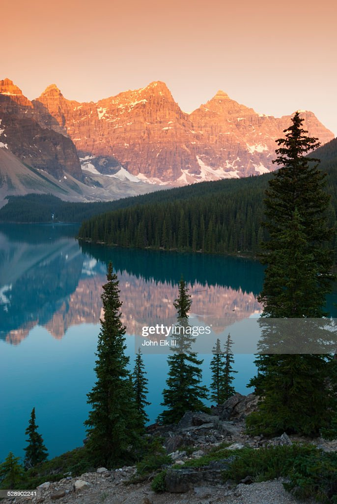 Moraine Lake and Valley of Ten Peaks, sunrise