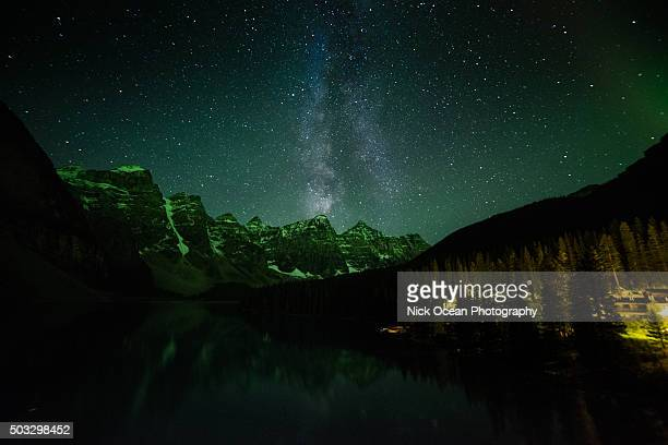 Moraine Lake, Aurora Borealis, Banff National Park