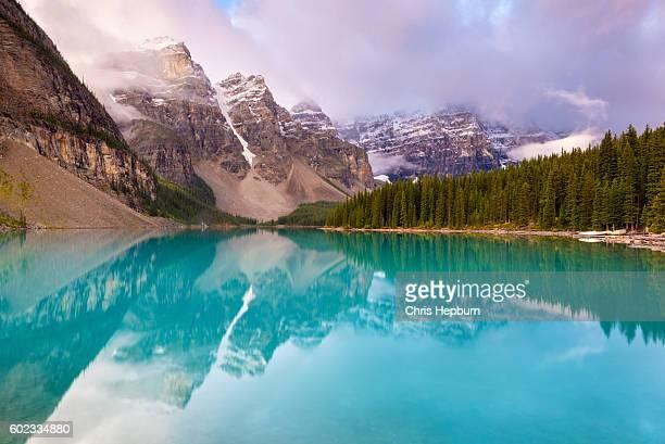 Moraine Lake, parque nacional de Banff, Alberta, Canadá