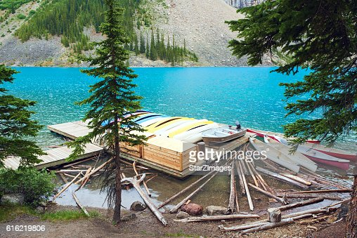 See Moraine Lake im Banff Nationalpark-Kanada : Stock-Foto