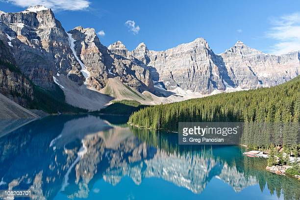 Moraine Lake with Mountains and Trees