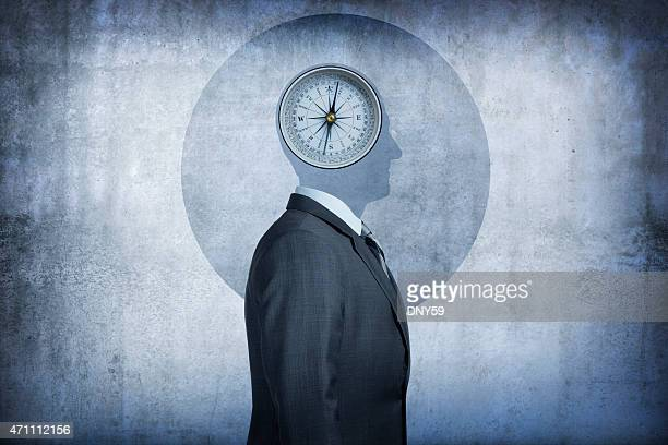 Moral compass concept