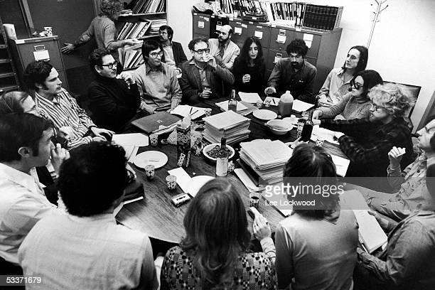 Moral philosopher Dr Lawrence Kohlberg at seminar with Harvard graduate students