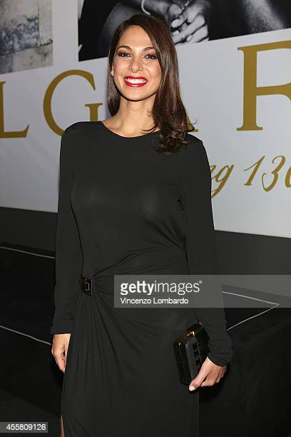 Moran Atias attends the amfAR Milano 2014 Cocktail as part of Milan Fashion Week Womenswear Spring/Summer 2015 on September 20 2014 in Milan Italy