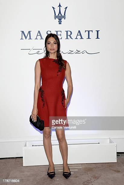 Moran Atias attends the Uomo Vogue Cocktail Party during the 70th Venice International Film Festival at the Terrazza Maserati on August 27 2013 in...