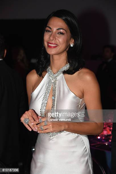 Moran Atias is seen at the dinner of amfAR Milano 2016 at La Permanente on September 24 2016 in Milan Italy