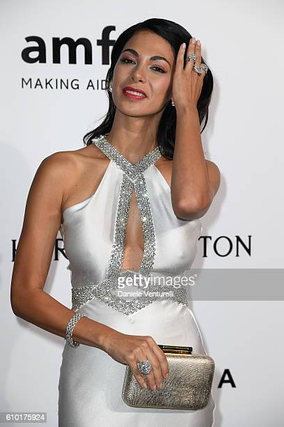 Moran Atias walks the red carpet of amfAR Milano 2016 at La Permanente on September 24 2016 in Milan Italy