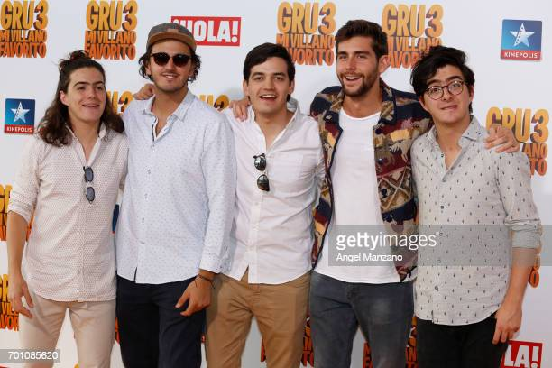 Morat attend the 'Despicable Me 3' premiere at Kinepolis cinema on June 22 2017 in Madrid SPAIN