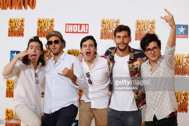 Morat attends the 'Despicable Me 3' premiere at Kinepolis cinema on June 22 2017 in Madrid SPAIN