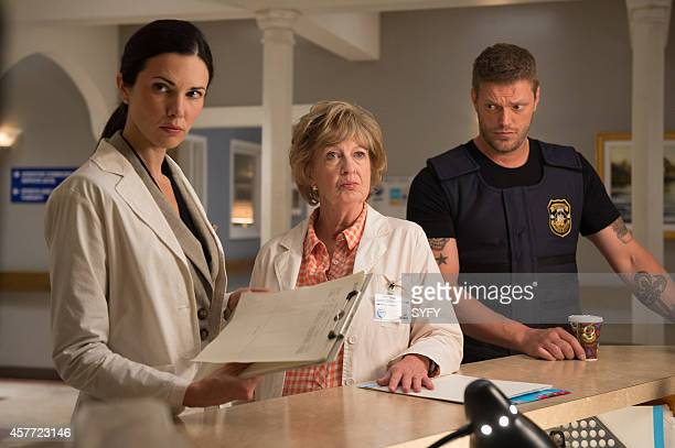 HAVEN 'Morbitidy' Episode 509 Pictured Laura Mennell as Dr Erin Reid Jane Eastwood as Gloria Adam Copeland as Dwight Hendrickson