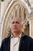 Mordechai Vanunu on the grounds of St George's Cathedral and guesthouse in East Jerusalem He was released after 18 years in prison in April 2004...