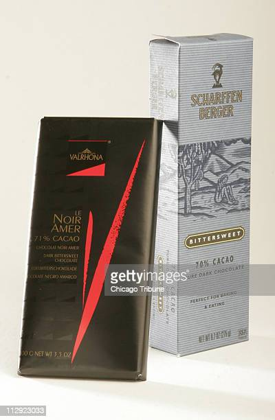 More companies are selling chocolate bars with 70 to 72 percent chocolate Valrhona Le Noir Amer 71% cacao and Scharffen Berger Bittersweet 70% Cacao