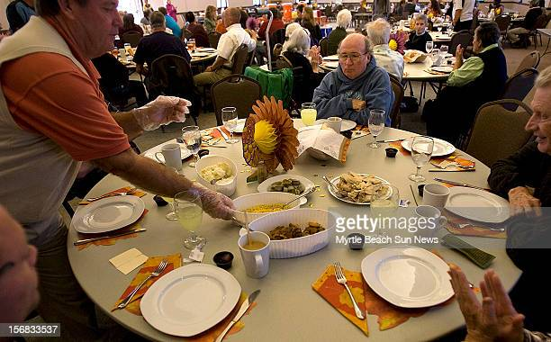 More than 100 people are seated and ready for the familystyle Thanksgiving dinner at Our Lady Star of the Sea Catholic Church in North Myrtle Beach...