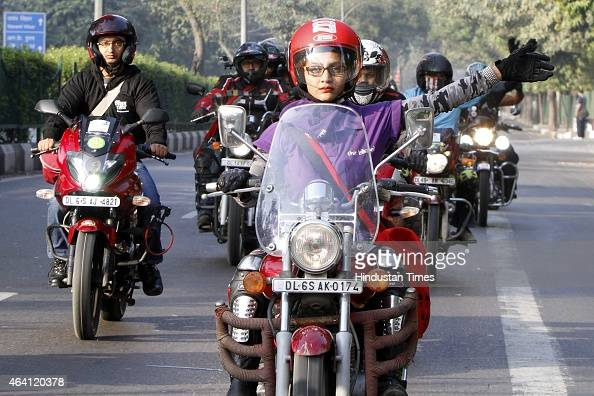 Women's Bike Rally Organized In Delhi Photos and Images ...