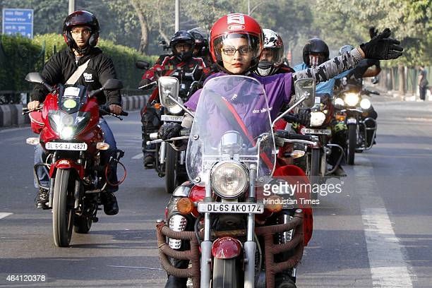 More than 100 women bike riders participate in Women's bike rally to celebrate Women's Right to mobility and to honor inspiring women striving for...